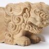 彫刻 獅子・棚上