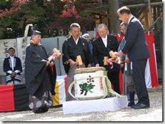 龍田大社 大嘗祭 神楽殿上棟祭 (2)