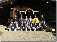 龍田大社 大嘗祭 神楽殿上棟祭 (8)