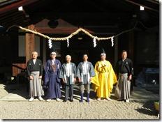 龍田大社 大嘗祭 神楽殿上棟祭 (9)
