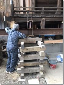 破磐神社舞殿重建工事 屋根工事 (5)