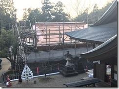 破磐神社舞殿重建工事 屋根工事 (2)