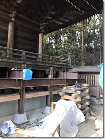 破磐神社舞殿重建工事 屋根工事 (3)