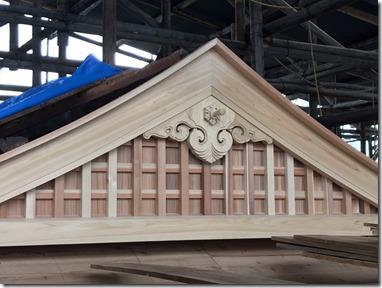 英賀神社幣殿改修工事〈姫路〉 (2)