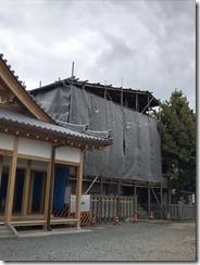 英賀神社幣殿改修工事〈姫路〉 (1)